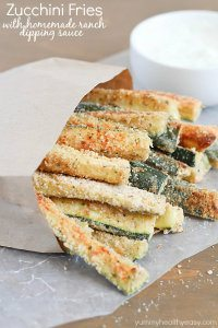 70+ Best Zucchini Recipes (Baked Zucchini Fries with Ranch Dipping Sauce Recipe) | SnappyGourmet.com