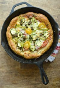 70+ Best Zucchini Recipes (Summer Veggie Skillet Pizza Recipe) | SnappyGourmet.com