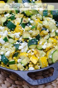 70+ Best Zucchini Recipes (Zucchini and Sweet Corn with Feta Recipe) | SnappyGourmet.com