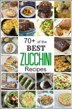 Best Zucchini Recipes - 70+ of the best zucchini recipes inclucing a recipe for zoodles, zucchini breads, muffins, fries, brownies, cakes, cookies, casserole, and more! | SnappyGourmet.com