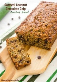 70+ Best Zucchini Recipes (Oatmeal Coconut Chocolate Chip Zucchini Bread Recipe) | SnappyGourmet.com