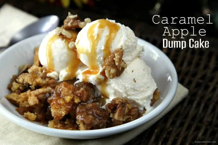 Caramel Apple Dump Cake Recipe An Easy With Fresh Apples