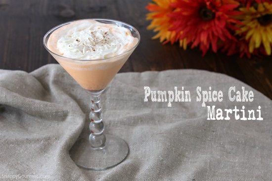 Pumpkin Spice Cake Martini Recipe Snappy Gourmet