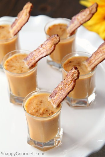 Cinnamon Carrot Soup Shooters With Maple Glazed Bacon