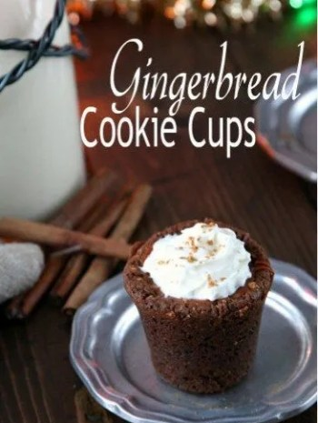 Gingerbread Cookie Cups Recipe