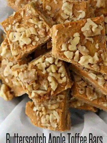 Butterscotch Apple Toffee Bars Recipe
