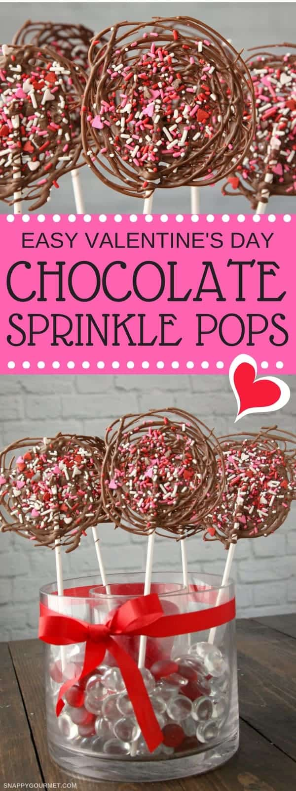 Easy Chocolate Pops - easy homemade chocolate lollipops recipe. SnappyGourmet.com