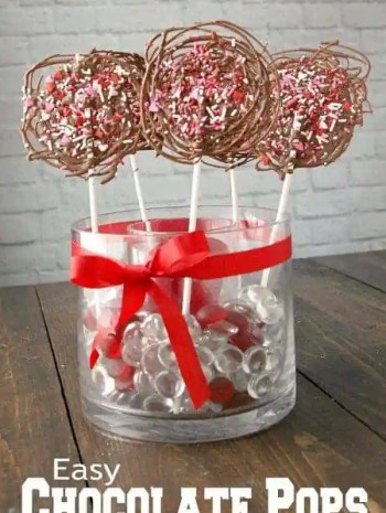 Easy Chocolate Pops Recipe for Valentine's Day