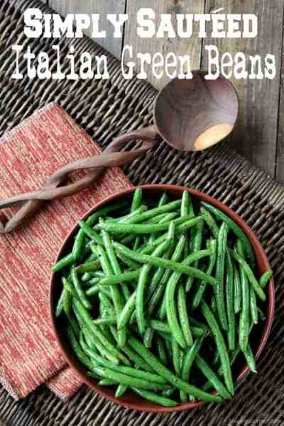 Simply Sautéed Italian Green Beans, easy side dish vegetable! SnappyGourmet.com