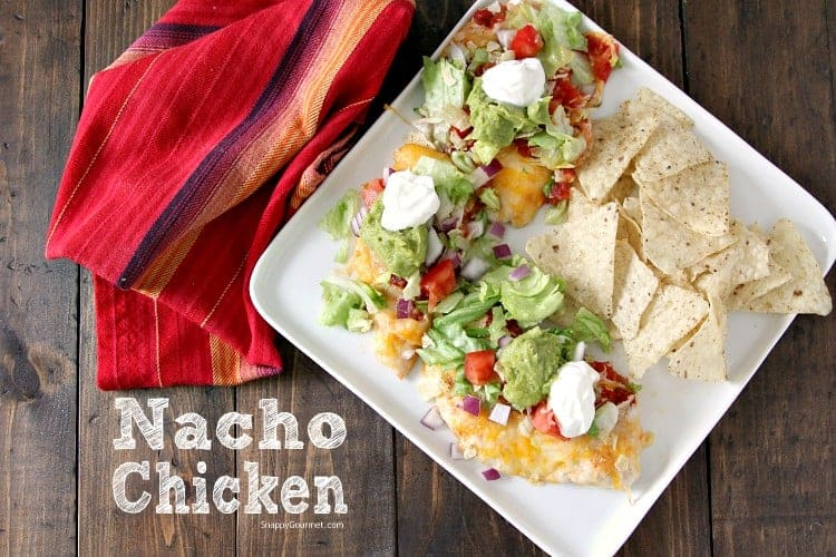 Nacho Chicken - easy low carb baked chicken recipe. SnappyGourmet.com