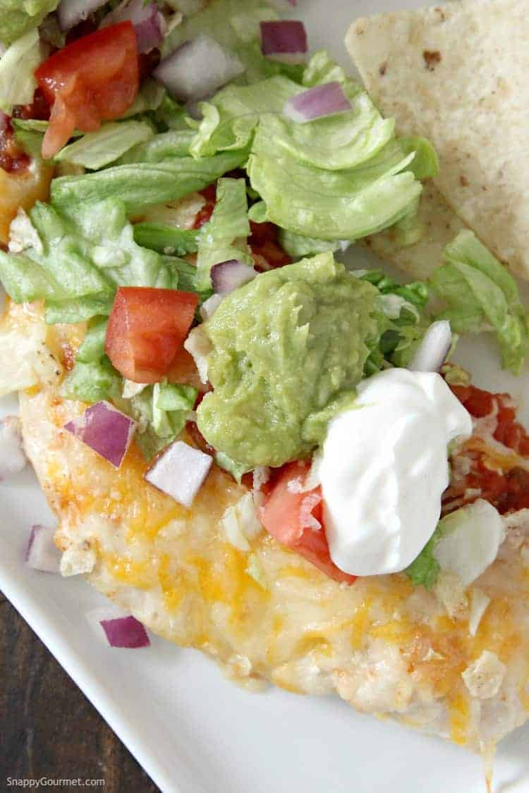 Nacho Chicken - loaded chicken nachos recipe but with chicken instead of chips. SnappyGourmet.com