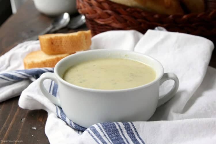 Brussels Sprout Soup - easy Cream of Brussels Sprout Soup recipe | SnappyGourmet.com