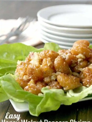 Easy Honey Walnut Popcorn Shrimp Recipe - An easy Chinese inspired holiday appetizer for a crowd! SnappyGourmet.com