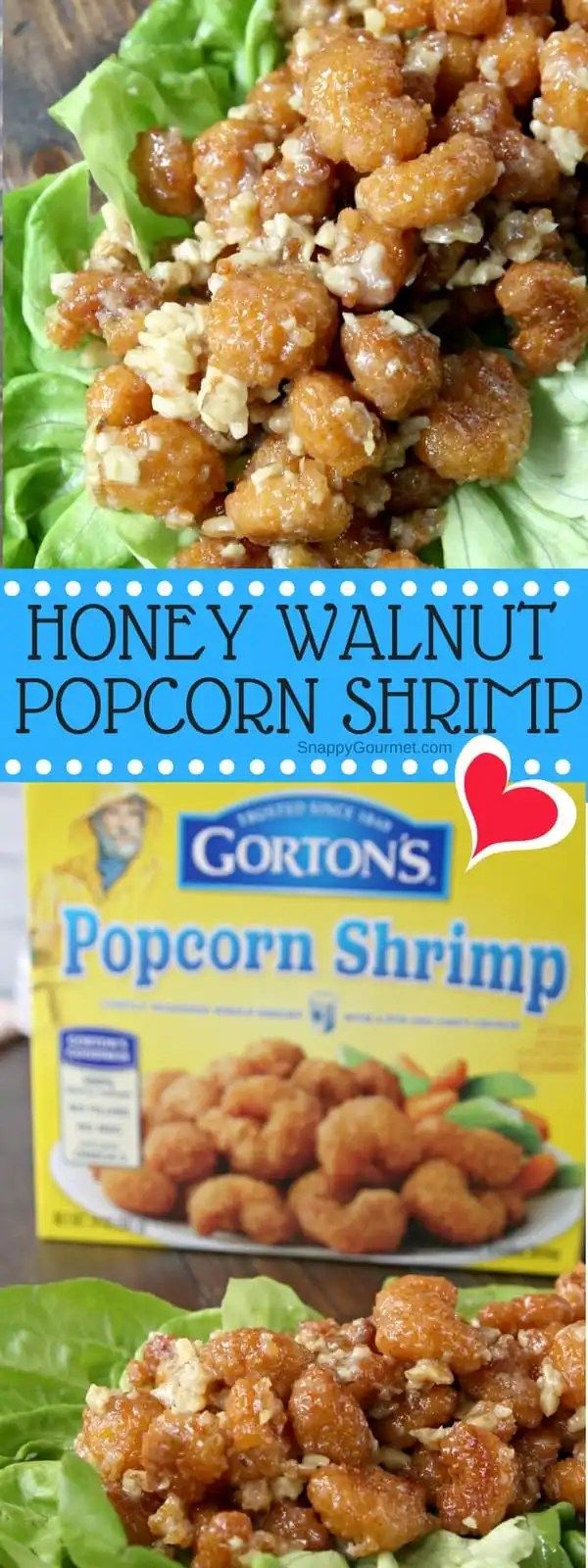 Honey Walnut Popcorn Shrimp - quick and easy honey walnut shrimp with a homemade honey walnut sauce and baked popcorn shrimp. SnappyGourmet.com