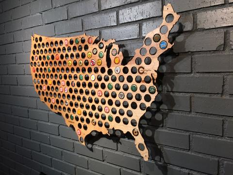 12 Days of Christmas Gift Ideas for Foodies - beer cap map