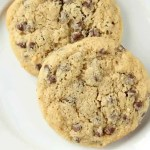 Almond Flour Chocolate Chip Cookies Recipe (cookies on plate)
