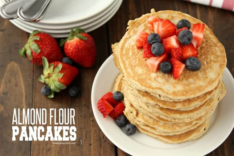 Almond Flour Pancakes Recipe - can easily be made keto or paleo friendly