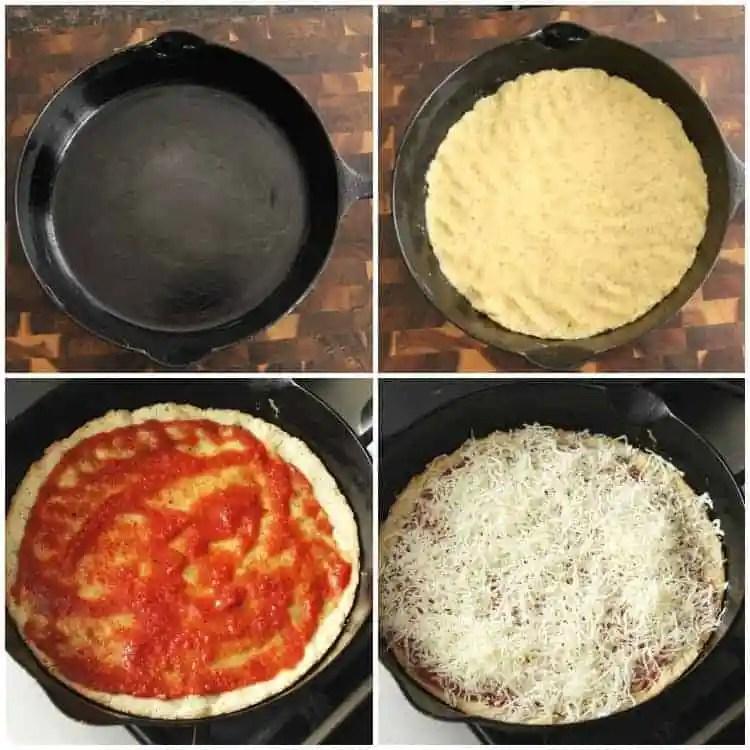 Almond Flour Pizza Crust Steps