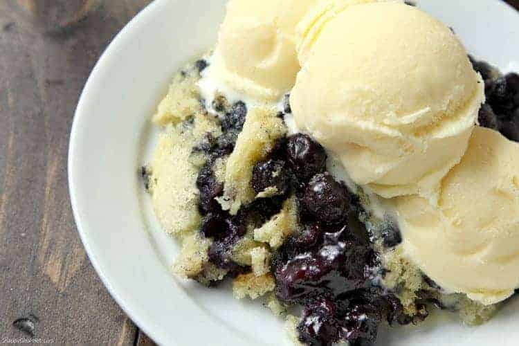 Blueberry Dump Cake Recipe - easy blueberry dessert and delicious with ice cream