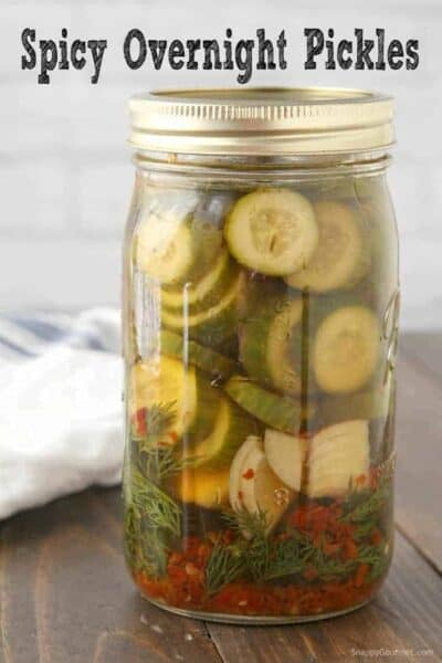 Spicy Pickle Recipe - how to make homemade spicy dill pickles