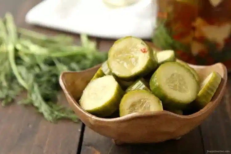 Spicy Pickle Recipe - easy spicy refrigerated pickles from scratch