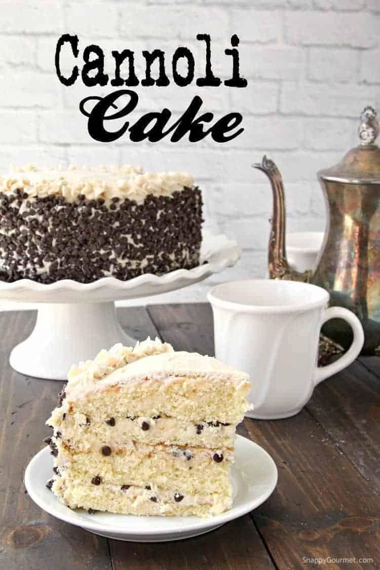 Cannoli Cake Recipe - Snappy Gourmet