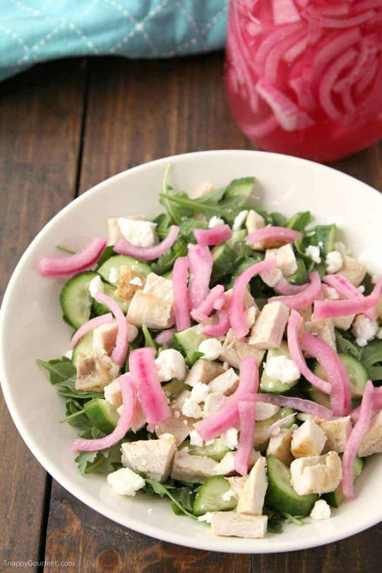 How to Pickle Onions: Overnight Refrigerator Pickled Red Onions - quick and easy pickled onions