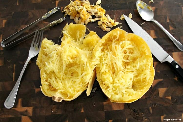 Instant Pot Spaghetti Squash - easy way to cook whole and how to remove seeds