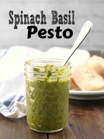 Spinach Basil Pesto Recipe
