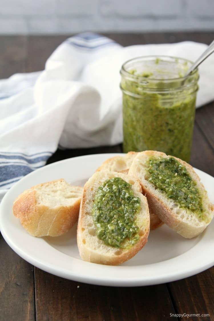 Spinach Basil Pesto Recipe - simple from scratch pesto