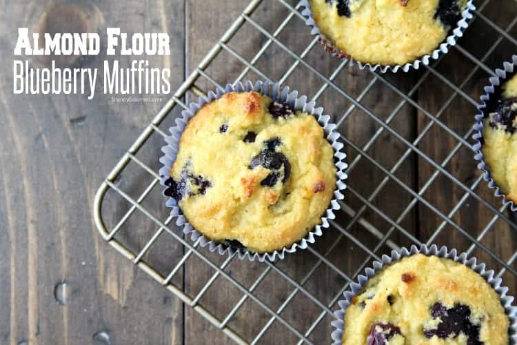 Almond Flour Blueberry Muffins Recipe - almond flour muffins with blueberries and orange
