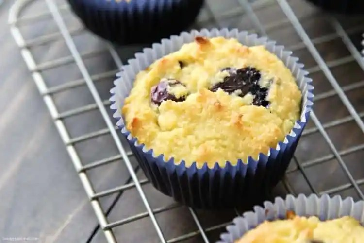 Almond Flour Blueberry Muffins Recipe - easy gluten free almond flour muffins