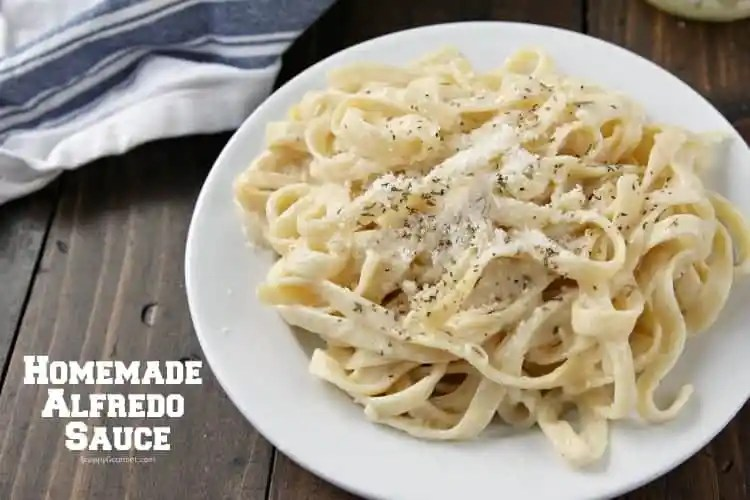 Homemade Alfredo Sauce Recipe - quick authentic alfredo sauce from scratch with fresh ingredients