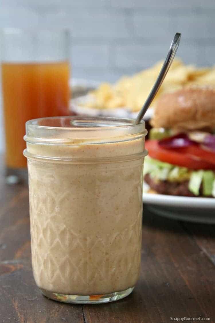 boom sauce in glass jar