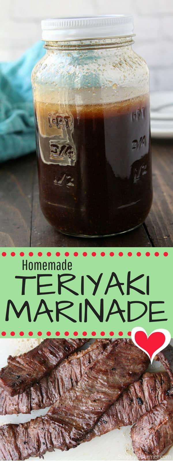 Homemade Teriyaki Marinade recipe for beef, chicken or pork
