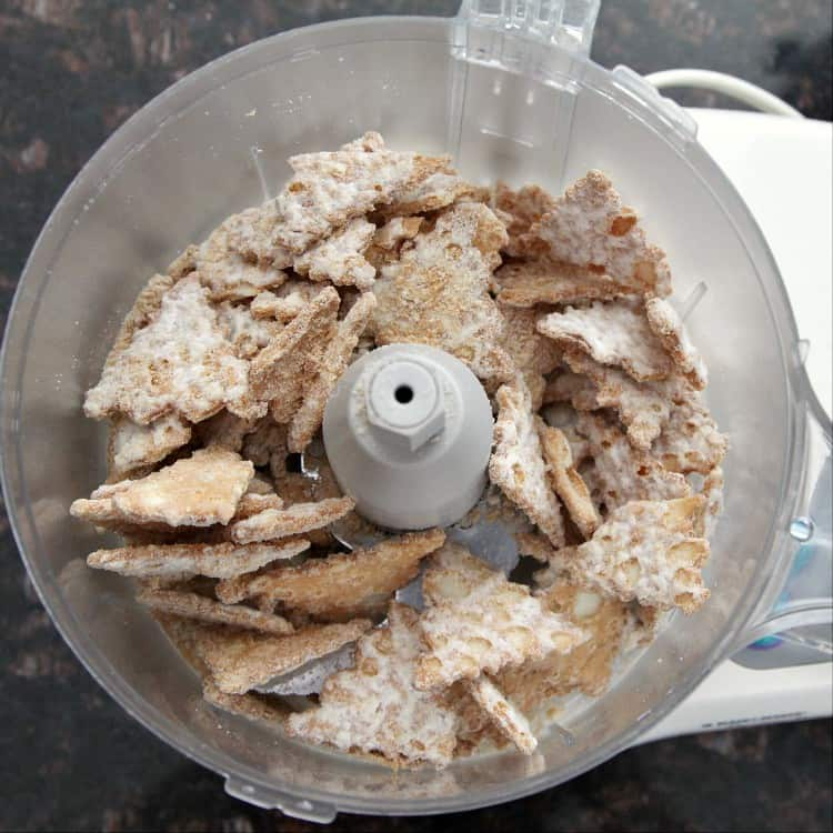 Cannoli Cream Chocolate Truffles - Cannoli Chips in food processor