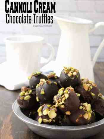 Cannoli Cream Chocolate Truffles - how to make truffles based on the popular Italian pastry