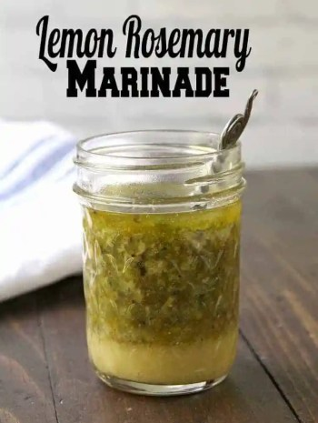 Lemon Rosemary Grilled Chicken Marinade Recipe