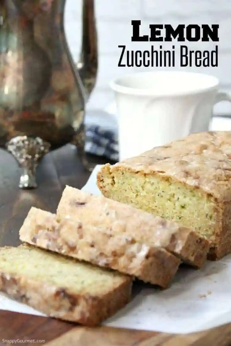 Lemon Zucchini Bread - easy zucchini bread recipe with fresh lemon and an easy lemon glaze