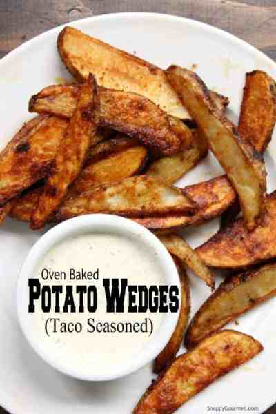 Oven Baked Potato Wedges - easy potato wedges recipe seasoned with taco seasoning