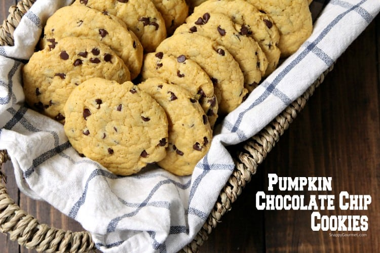Pumpkin Chocolate Chip Cookies - easy recipe for pumpkin cookies