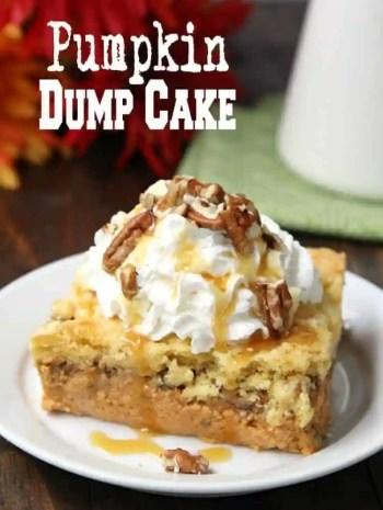 Pumpkin Dump Cake - how to make a dump cake with canned pumpkin