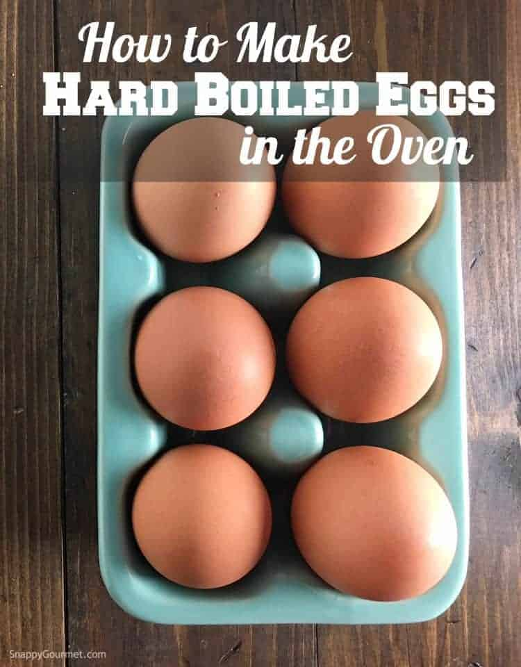 How to make hard-boiled eggs in the oven! #SnappyGourmet #Eggs #Recipe #Hack #Howto