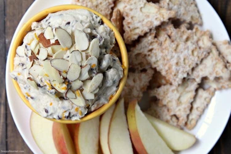 Cannoli Dip (Orange Almond) - easy homemade cannoli dip recipe with orange zest and almond flavoring.