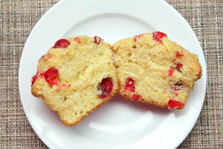 Cranberry Orange Muffins - fresh cranberry and orange zest in jumbo muffins
