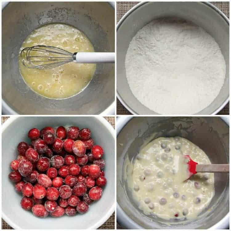 Cranberry Orange Muffins - mixing batter