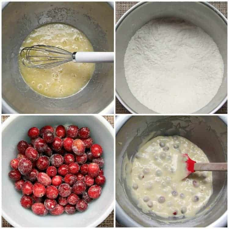 Cranberry Orange Muffins - mixing batter