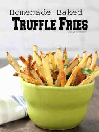 Truffle Fries - easy recipe for homemade parmesan truffle fries