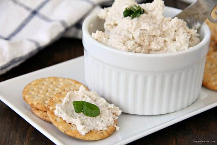 Ham Dip on crackers