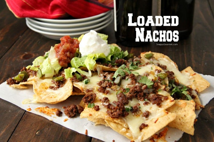 Loaded Nachos with condiments